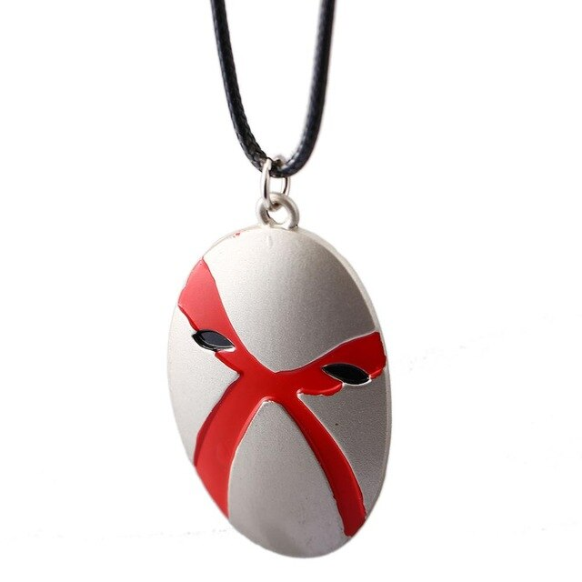 10pcs/lot BLEACH Choker Necklace Hueco Mundo Menos Mask Pendant Men Women Gift Anime Jewelry Accessories