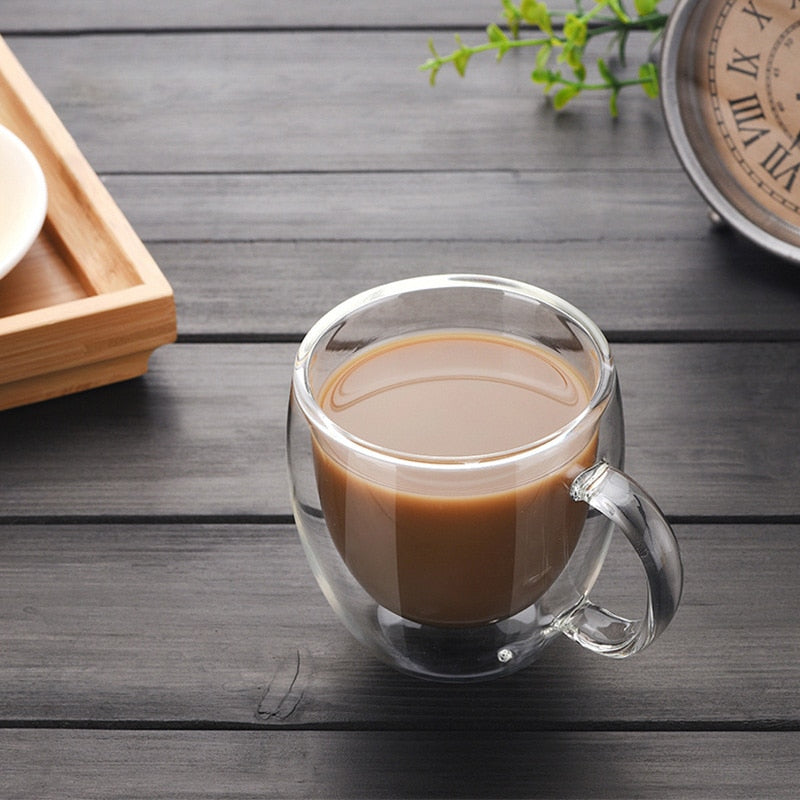 Double-Walled Transparent Coffee Mug