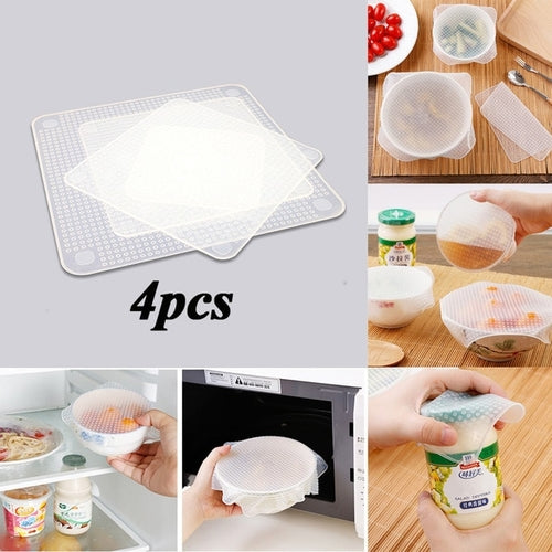 Reusable Stretchy Silicone Lids