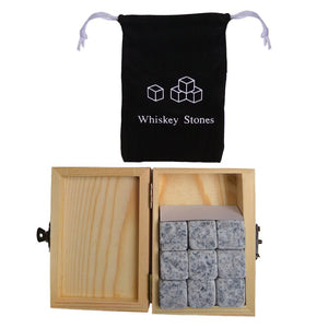9pcs Natural Whiskey Stones
