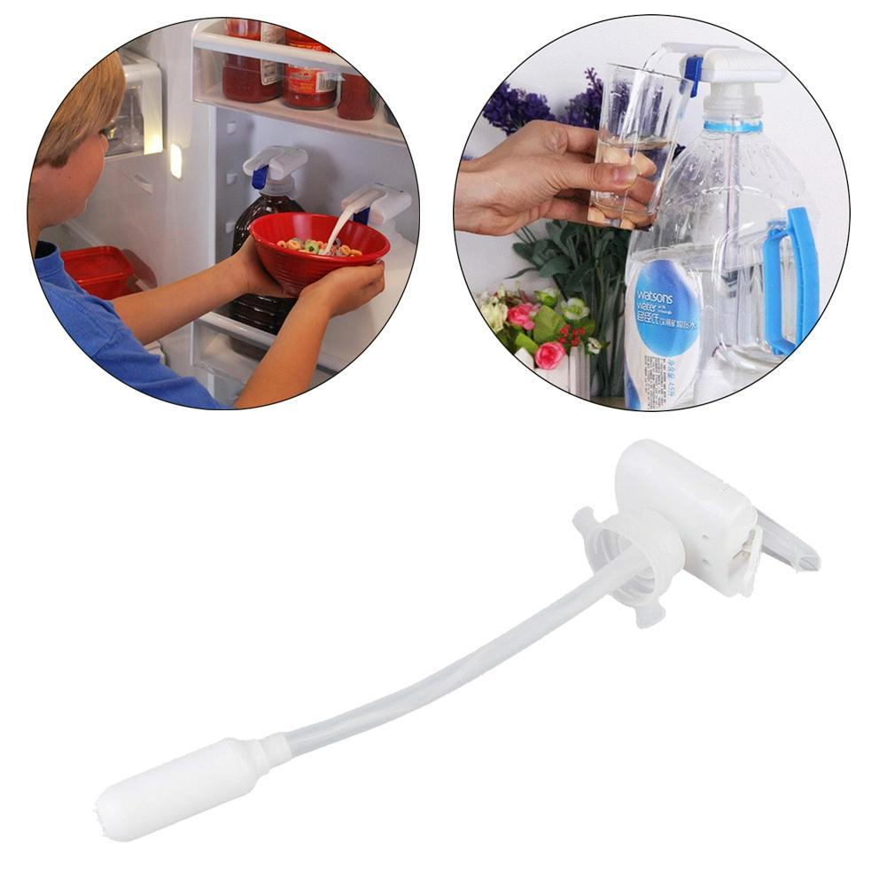 Beverage Pouring Pump with Straw