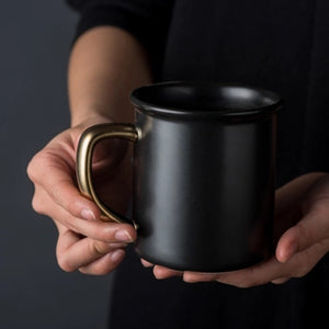 Matte Black Coffee Mug