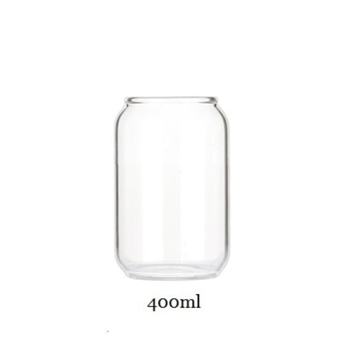 Can Shaped Glass Jar