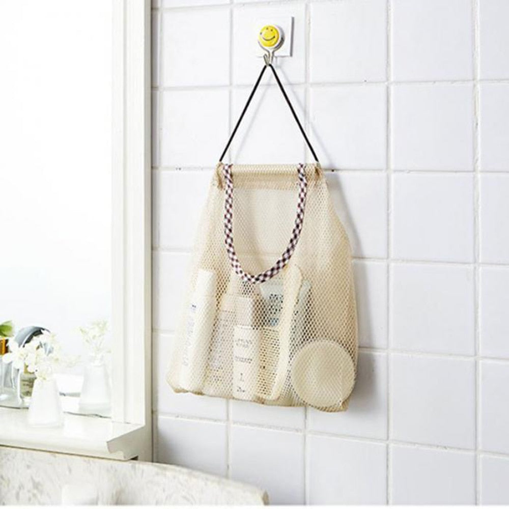 Large Reusable Hanging Mesh Storage Bags