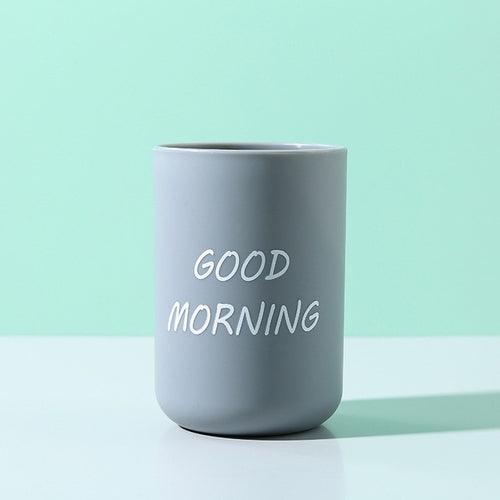 Good Morning Toothbrush Cup