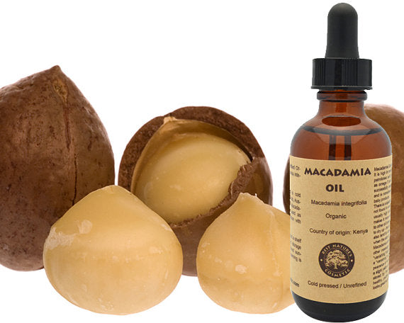 100% Pure, Organic Macadamia Oil. Helps to reduce