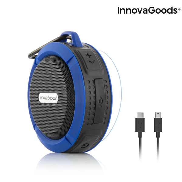 Coluna Bluetooth Sem Fios Portátil Waterproof DropSound InnovaGoods | Z Smart Buy