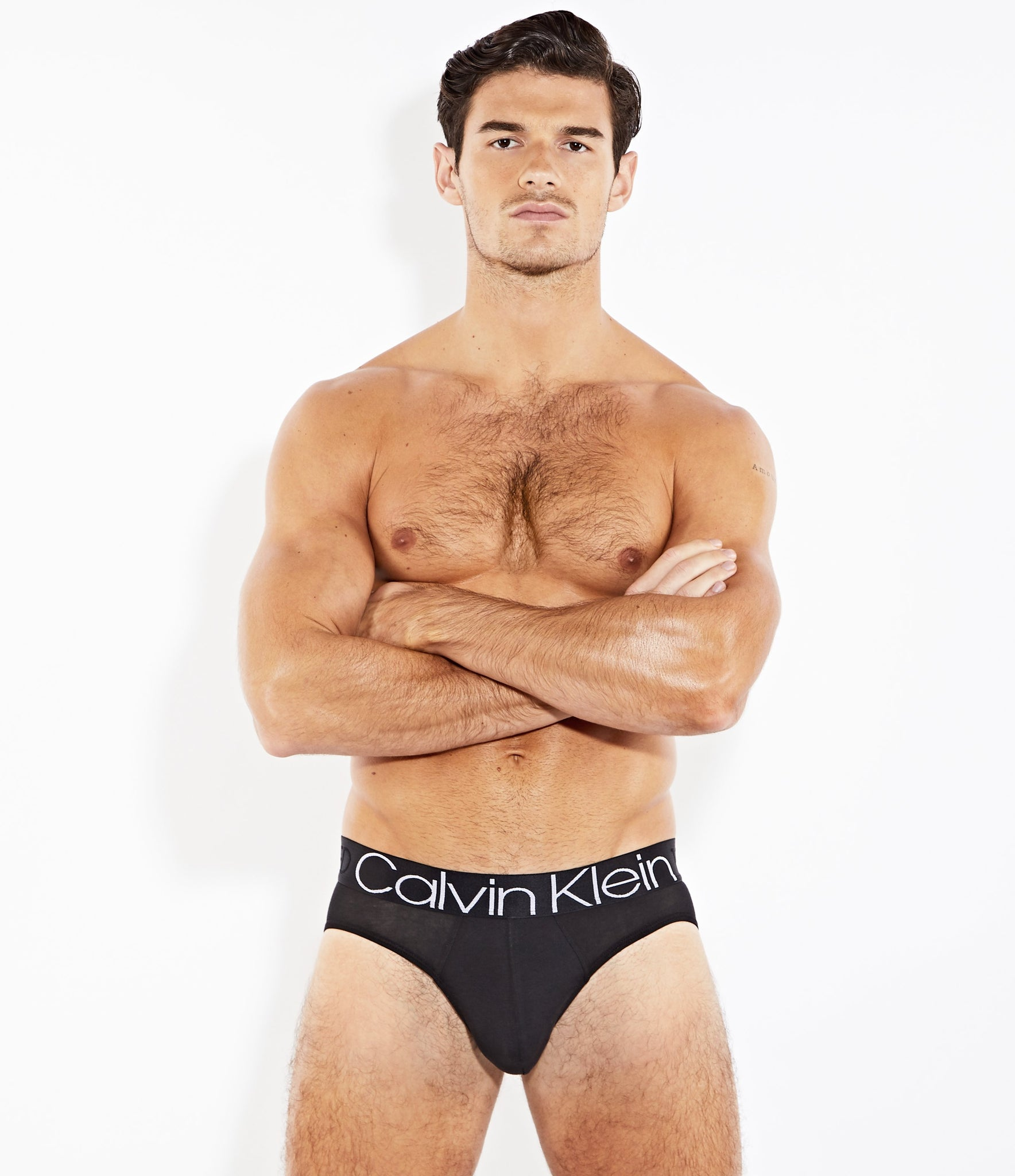 Calvin Klein EVOLUTION Cotton Hip Brief Black