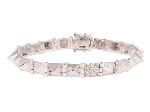 Anita Ko Small Diamond Pyramid Spike Bracelet