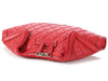 Alexander McQueen Red Quilted De Manta Clutch