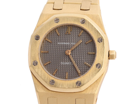 Audemars Piguet 18K Yellow Gold Ladies Royal Oak Watch 26mm