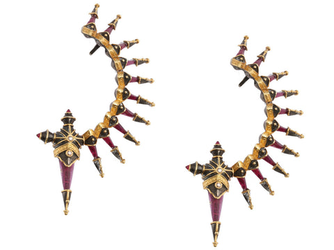 Amrapali Spiked Ear Climber Earrings