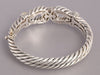 Andrea Candela Sterling Silver and 18K Gold Diamond Bracelet