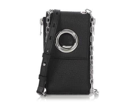 Alexander Wang Black Riot Wallet on a Chain