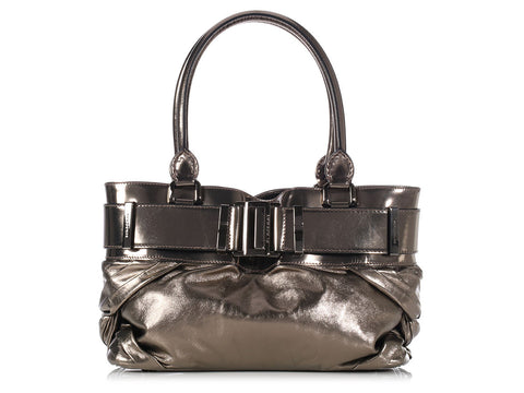Burberry Small Knotted Bronze Healy Tote