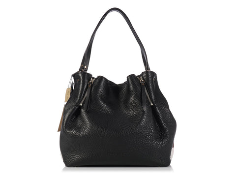 Burberry Maidstone Brit Medium Black Tote