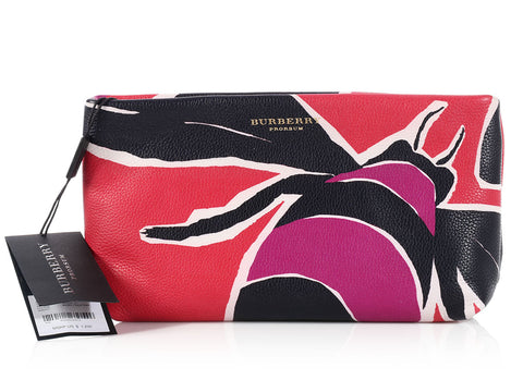 Burberry Prorsum Tulip Pink Bee Clutch