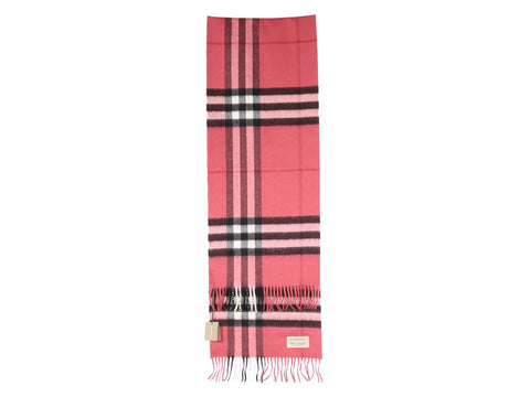 Burberry Blush Pink Giant Check Scarf
