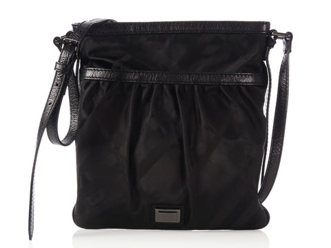 Burberry Black Nylon Nova Check Bag