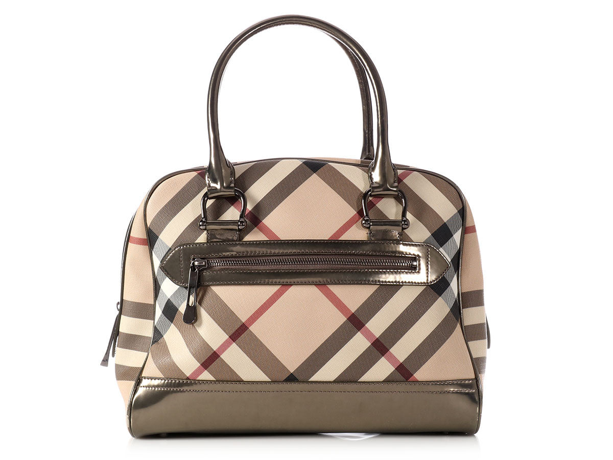 Burberry Tan Nova Check Bag