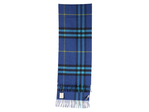 Burberry Cerulean Blue Giant Check Scarf