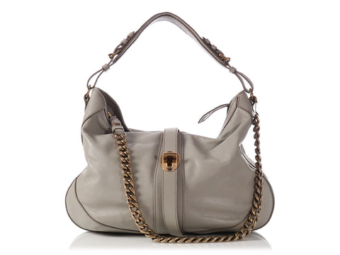 Burberry Gray Weatherby Hobo