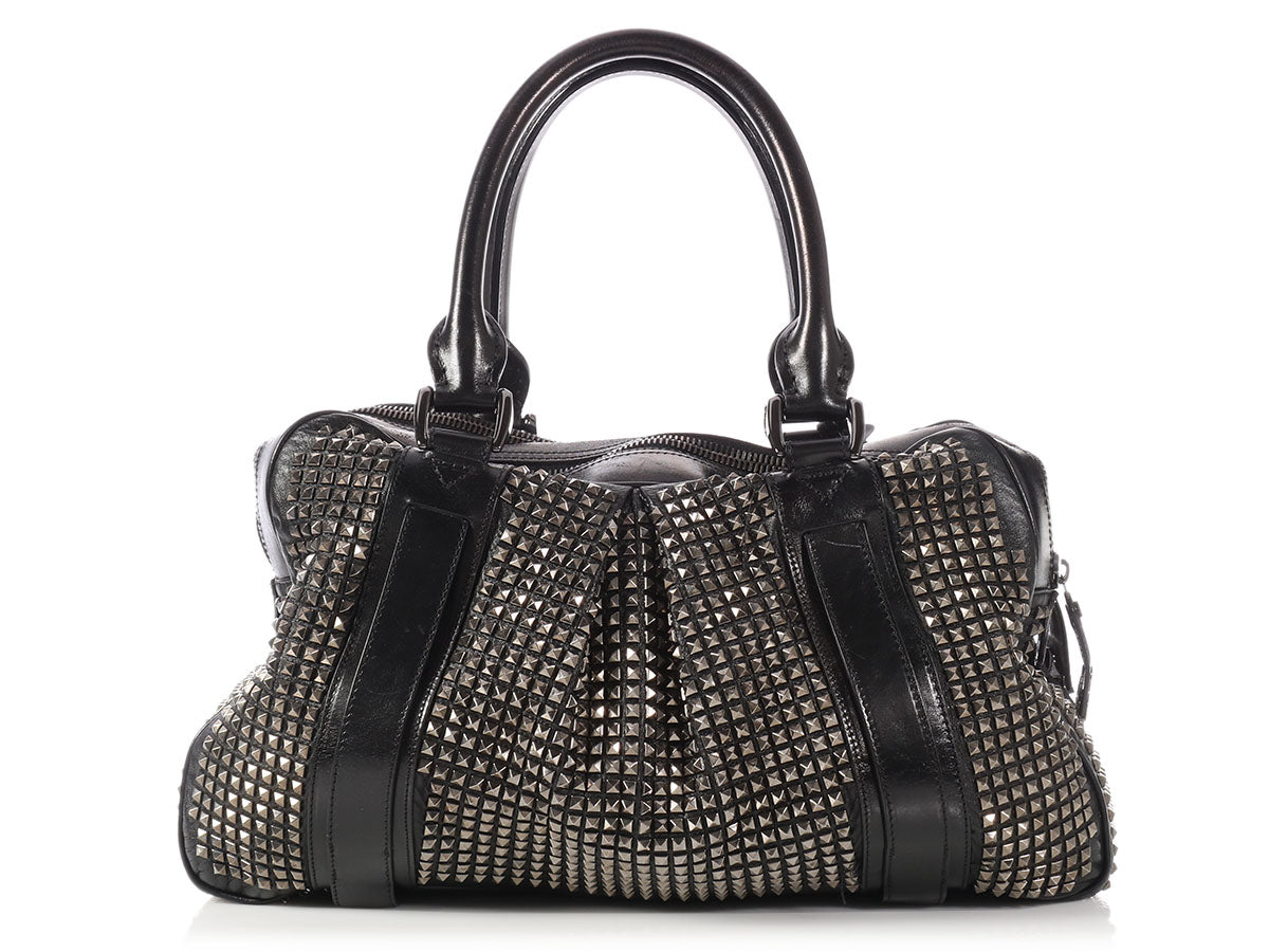 5d1a1025917f Burberry Large Black Studded Knight Bag