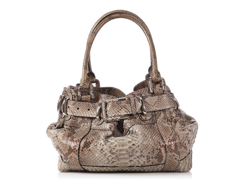 Burberry Large Woven Python Beaton Bag