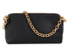 Burberry Black Grained Leather Convertible Clutch