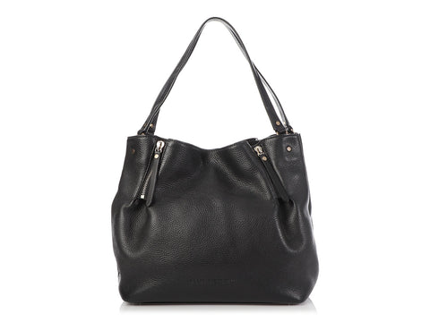 Burberry Medium Black Zip Detail Tote