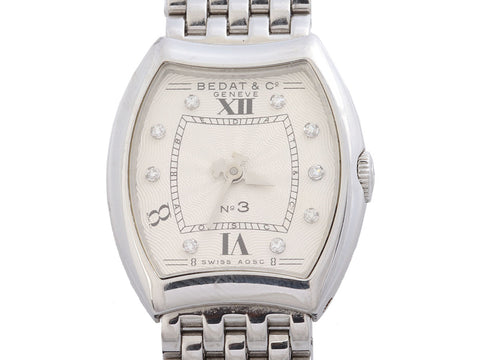 Bedat & Co. Stainless Steel Diamond No. 3 Watch