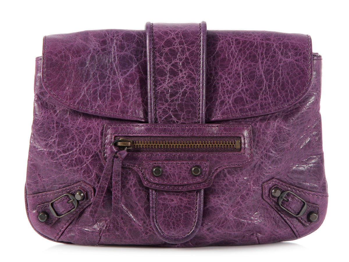 Balenciaga 2009 Grape Flap Pochette
