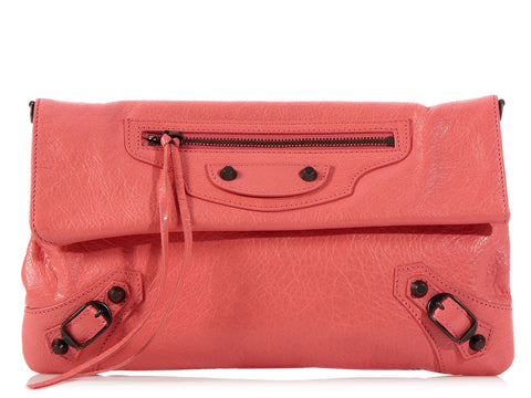 Balenciaga 2014 Rose Bonbon Envelope Clutch