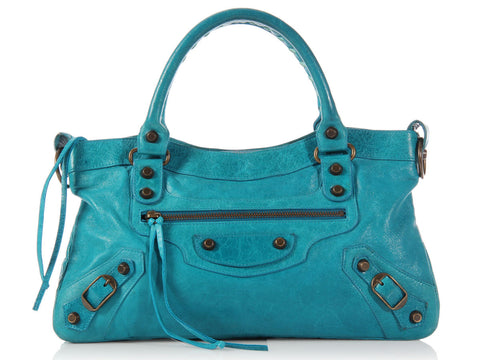 Balenciaga Turquoise Classic First