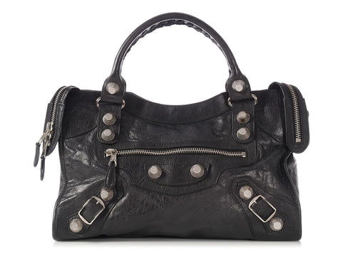 Balenciaga 2011 Black Giant 21 Silver City
