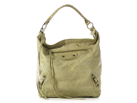 2a5314dcff81 Balenciaga 2010 Classic Olive Perforated Day
