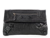 Balenciaga Anthracite Covered Giant Brogues Envelope Clutch