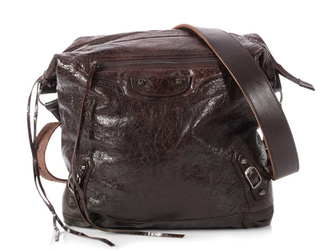 Balenciaga Men's Chocolate Classic Day Messenger