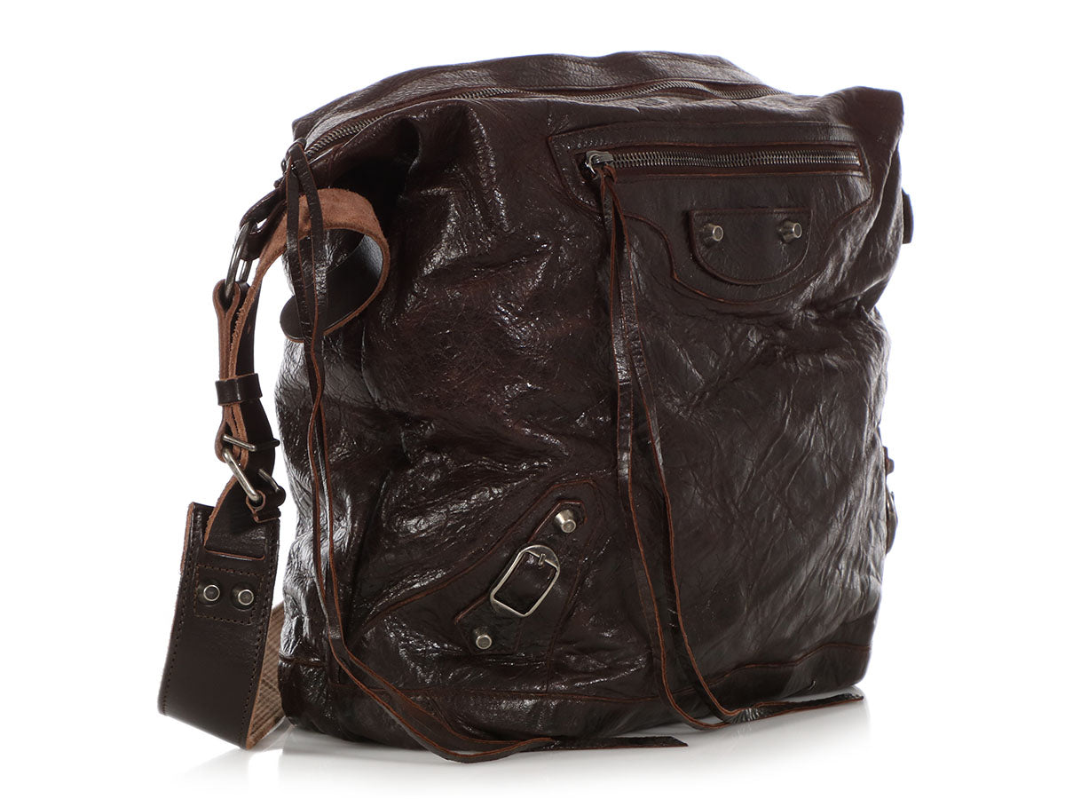 abee3210ec Balenciaga Mens 2005 Chocolate Chèvre Classic Day Messenger