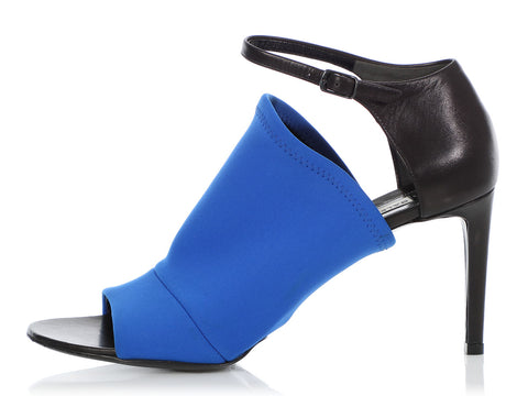 Balenciaga Blue Neoprene Sandals