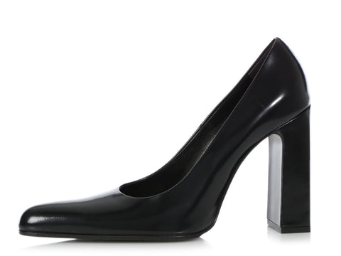 Balenciaga Black Leather Pumps