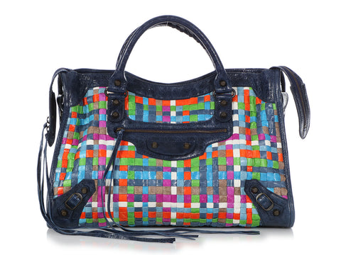 Balenciaga 2009 Multicolor Lattice Classic City