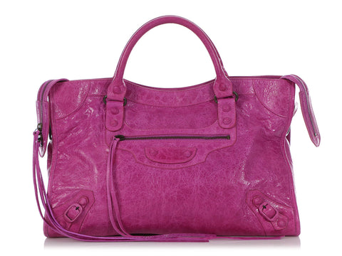 Balenciaga 2008 Amethyst Agneau Covered Classic City