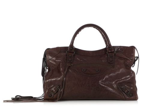 Balenciaga Brown Classic City