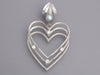 Balenciaga Silver-Tone, Crystal, and Faux Pearl Heart Clip-On Earrings