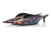 Balenciaga Black Graffiti Mule Slides