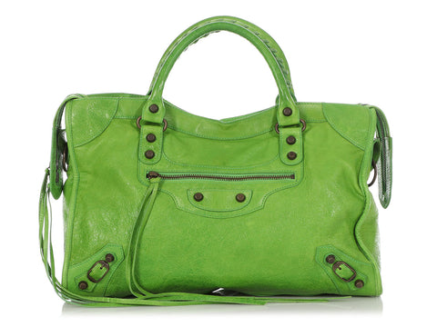 Balenciaga 2005 Apple Green Chèvre Classic City