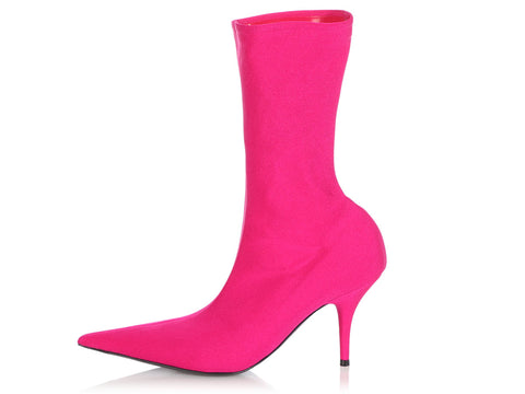 Balenciaga Hot Pink Knife Booties