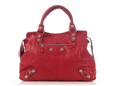 Balenciaga Red Giant Silver 21 RTT Bag