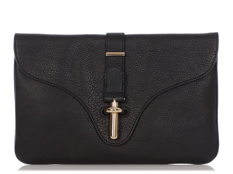 Balenciaga Medium Black Tube L Clutch